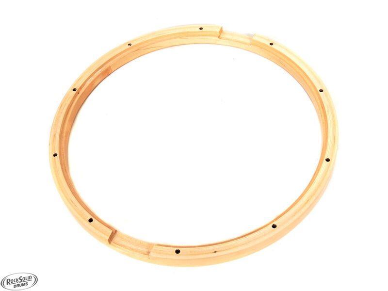 14 maple wood snare drum hoops pair 10 lug hoop rock solid drums. Black Bedroom Furniture Sets. Home Design Ideas