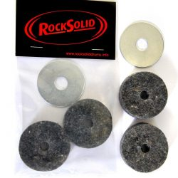 2 x RockSolid Grey Hi Hat Cup Cymbal Felts and One Cup Washer